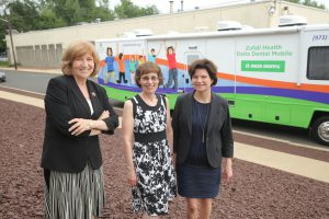 Dental van ribbon cutting, 2
