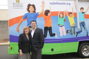 Zufall's Eva Turbiner, President and Chief Executive Officer, with Dr. Sam Wakim, Chief Dental Officer
